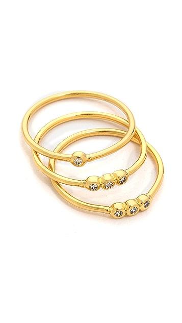 Gorjana Shimmer Midi Ring Set