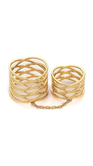 Gorjana Woven Cage Knuckle Ring