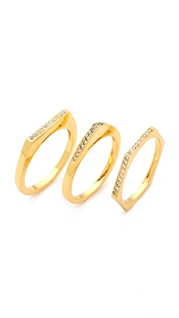 Gorjana Mila Shimmer Ring Set