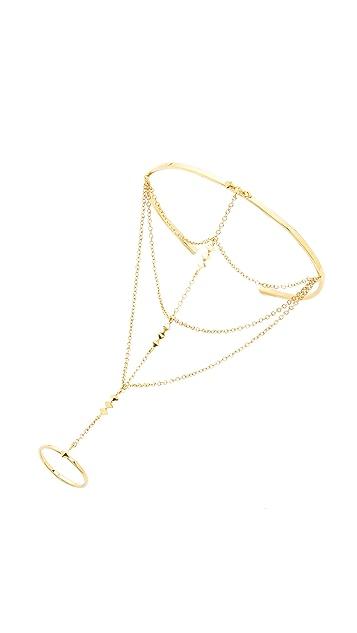 Gorjana Uptown Ring to Wrist Cuff Bracelet