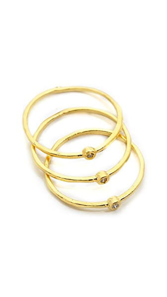 Gorjana 10 Year Diamond G Ring Set