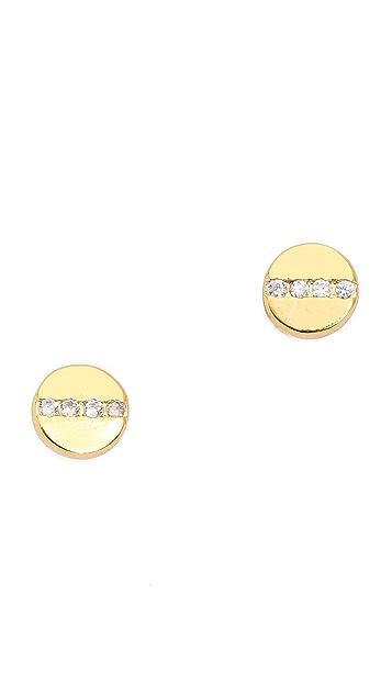 Gorjana Chaplin Shimmer Stud Earrings