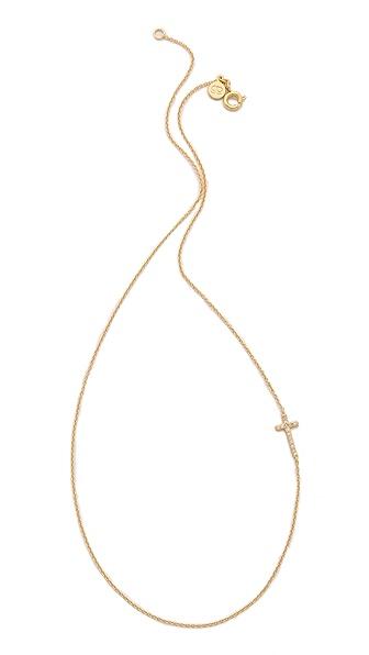 Gorjana Shimmer Cross Asymmetrical Necklace