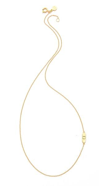 Gorjana Asymmetrical Alphabet Necklace