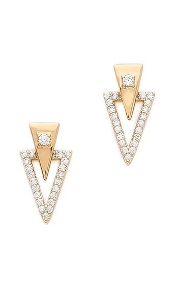 Gorjana Shimmer Triangle Double Stud Earrings