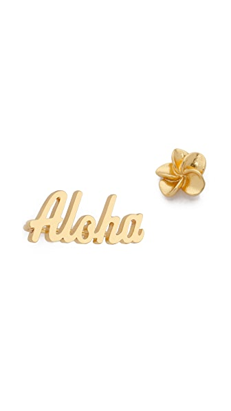 Gorjana Aloha Ear Climber Earrings