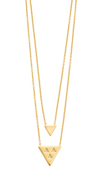 Gorjana Mika Double Pendant Necklace