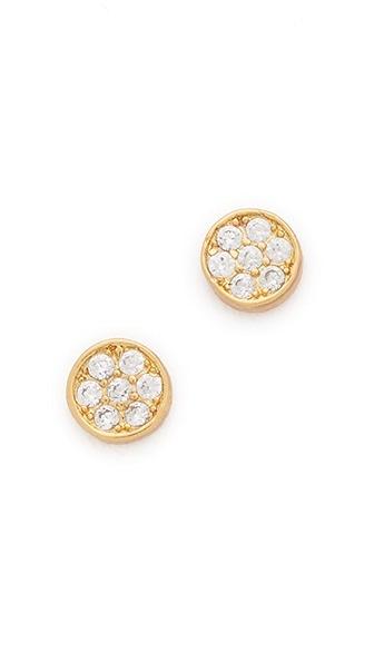 Gorjana Pristine Mini Studs - Gold/Clear