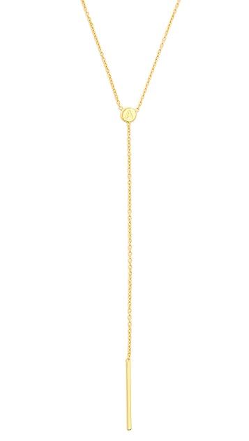 Gorjana Alphabet Lariat Necklace