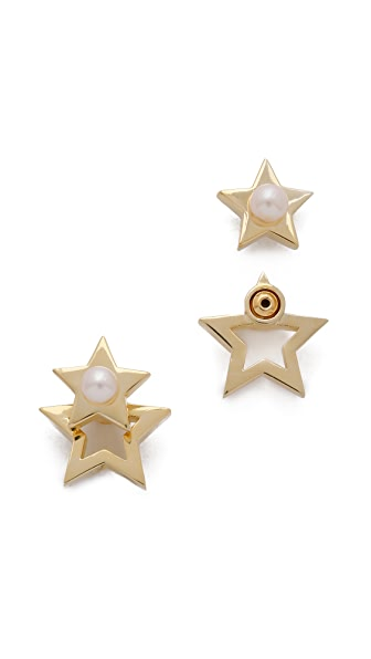 Gold Philosophy Twinkle Star Earrings