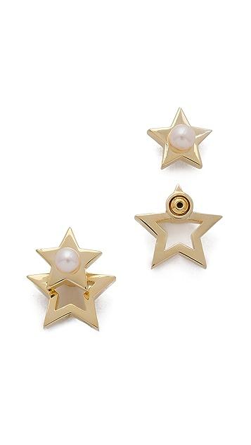Gold Philosophy Twinkle Star Earrings