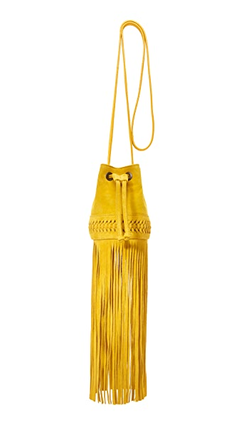 GRACE ATELIER DE LUX Long Fringe Baby Babette Bucket Bag