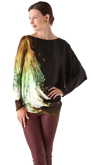 Maria Grachvogel Long Sleeve Printed Top