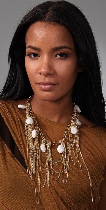 Gemma Redux White Jade Bib Necklace
