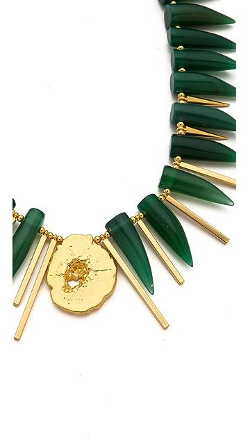 Gemma Redux Geode & Agate Horn Necklace