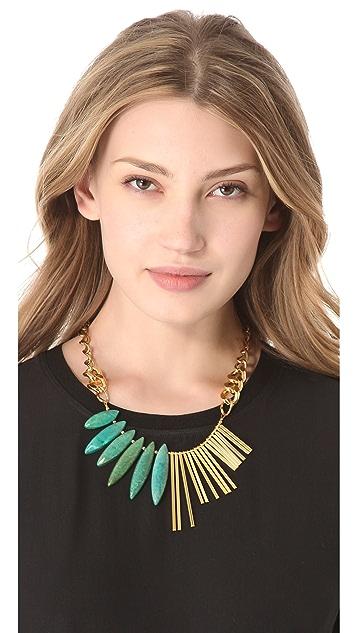 Gemma Redux Turquoise Asymmetrical Necklace