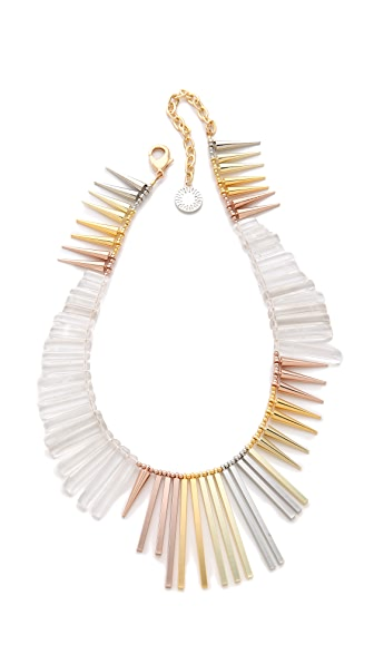 Gemma Redux Cracked Crystal Asymmetrical Necklace