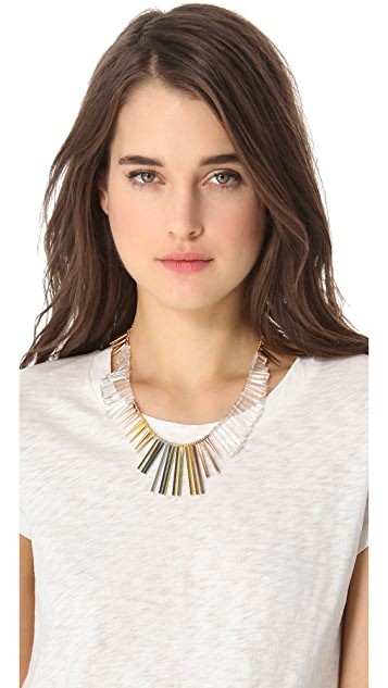 Gemma Redux Cracked Crystal Asymmetrical Necklace