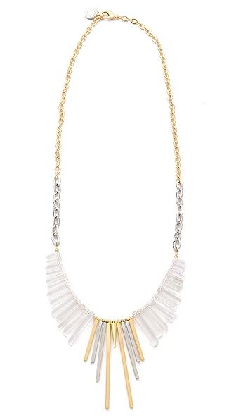 Gemma Redux Cracked Crystal Long Bib Necklace