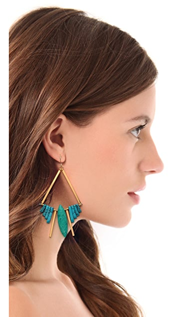 Gemma Redux Turquoise Bar Earrings