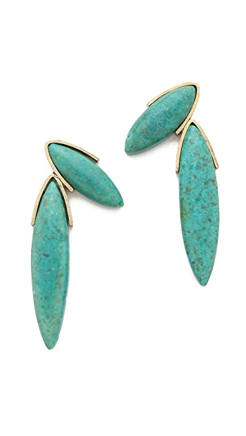 Gemma Redux Turquoise Fan Earrings