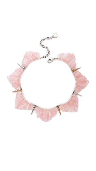 Gemma Redux Crystal & Spike Bib Necklace
