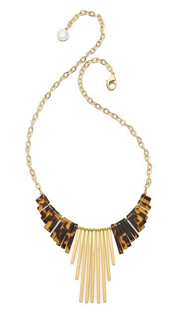 Gemma Redux Tortoiseshell Long Drop Necklace