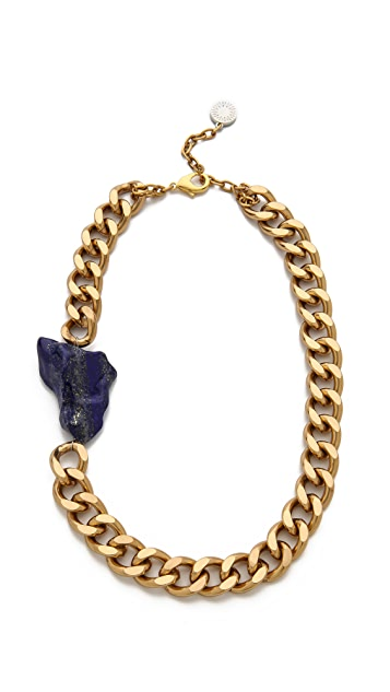 Gemma Redux Offset Lapis Stone Necklace