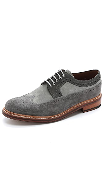Grenson Sid Suede Lace Up Wingtips