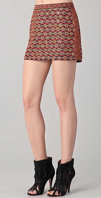 Gryphon Neon Miniskirt