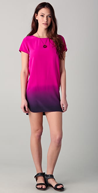 Gryphon Silk Dip Dye Uneven Dress