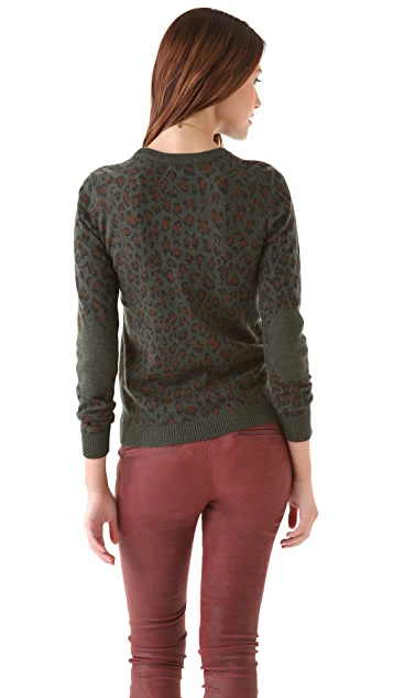 Gryphon Leopard Crew Sweater