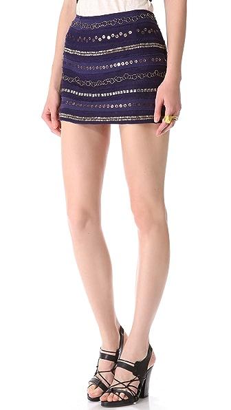 Gryphon Textured Stripe Miniskirt