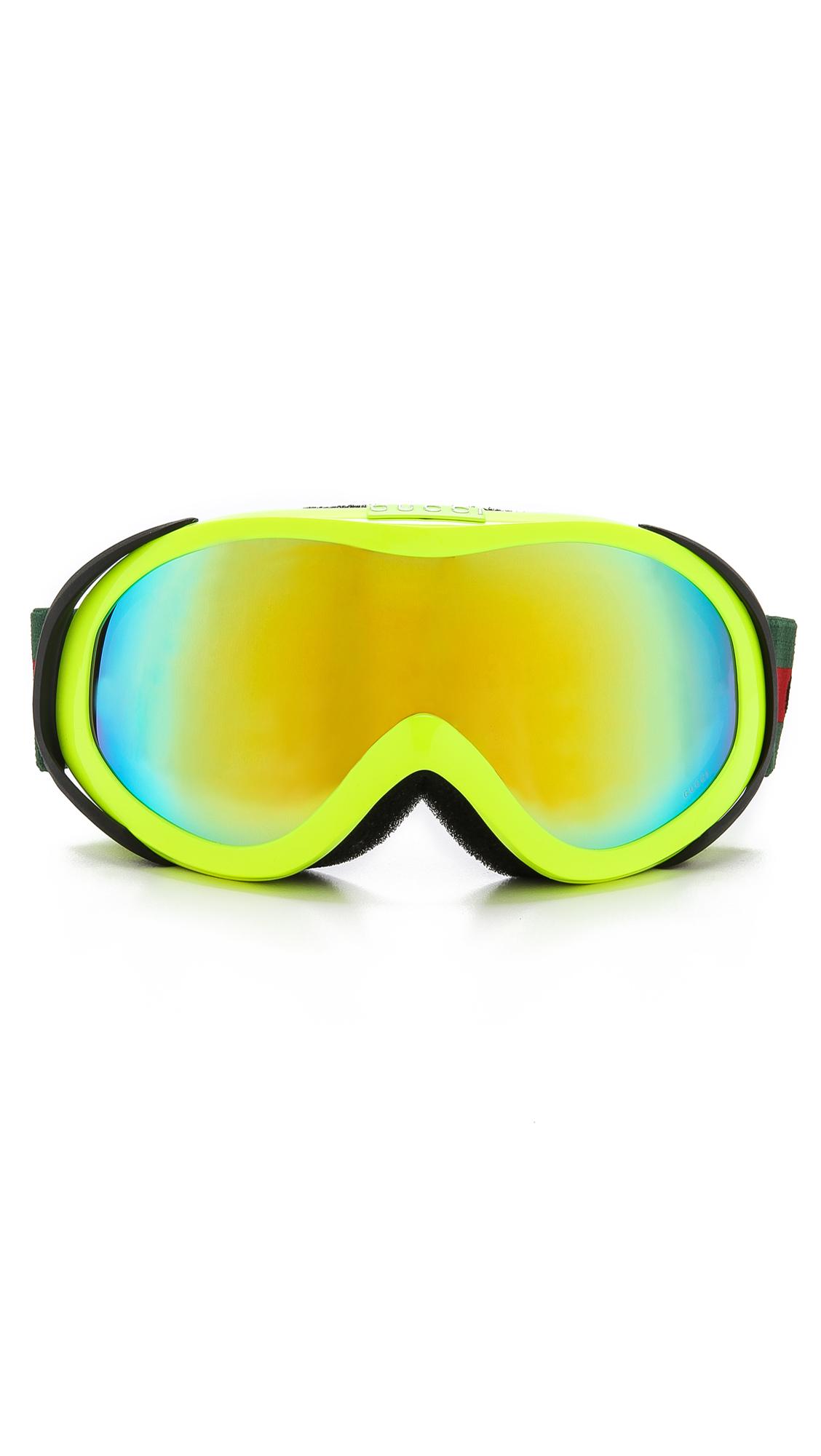 5d1a9e0085e4 Gucci Ski Goggles with Fluorescent Lens