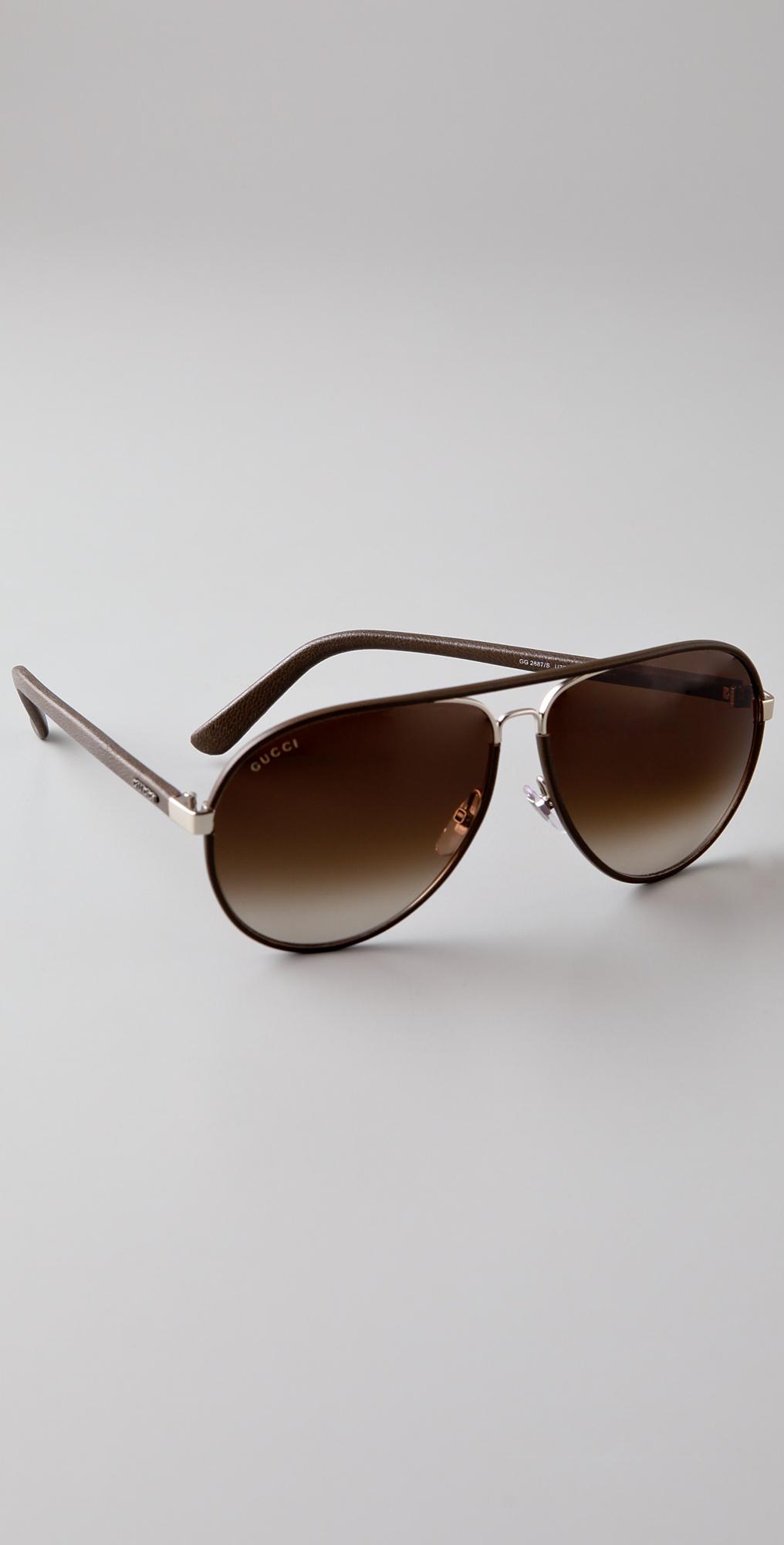 9910af11 Gucci Sunglasses Leather Aviator « Heritage Malta