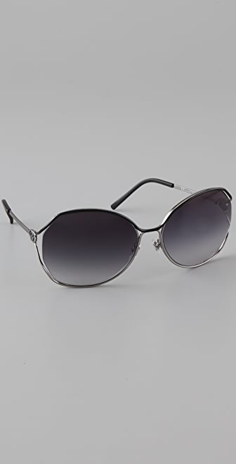 Gucci Oversized Metal Sunglasses