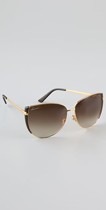 Gucci Petal Edge Sunglasses