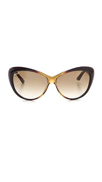 Gucci Rounded Cat Eye Sunglasses