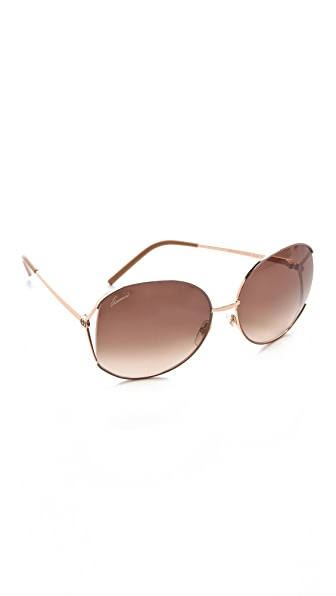Gucci Glam Metal Frame Sunglasses