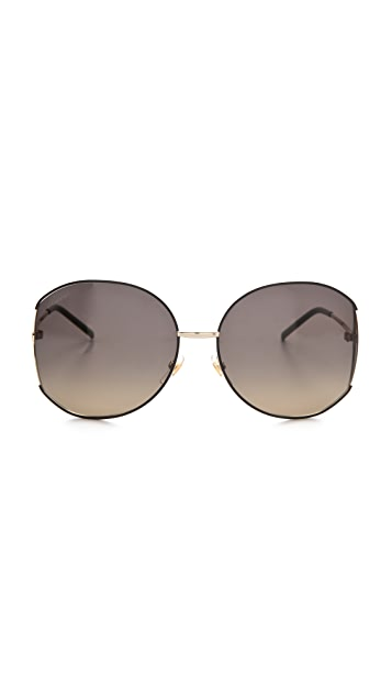 Gucci Glam Metal Frame Sunglasses