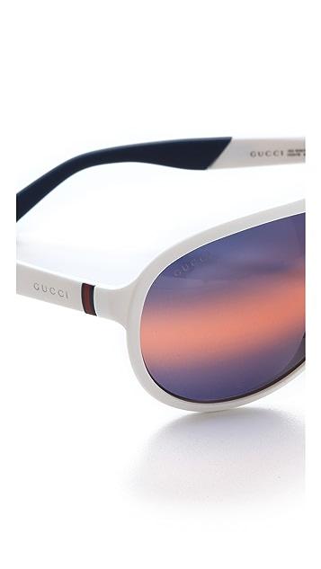 Gucci Olympic Aviator Sunglasses