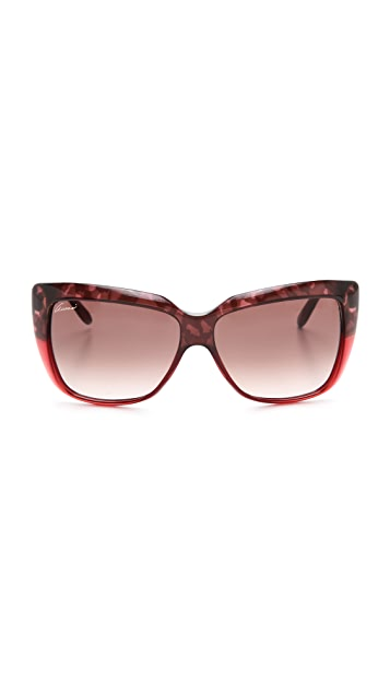 Gucci Two Tone Oversized Sunglasses
