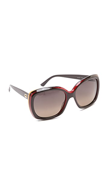 Gucci Two Tone Glam Sunglasses
