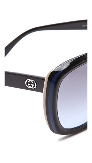 Gucci Two Tone Glam Sunglasses
