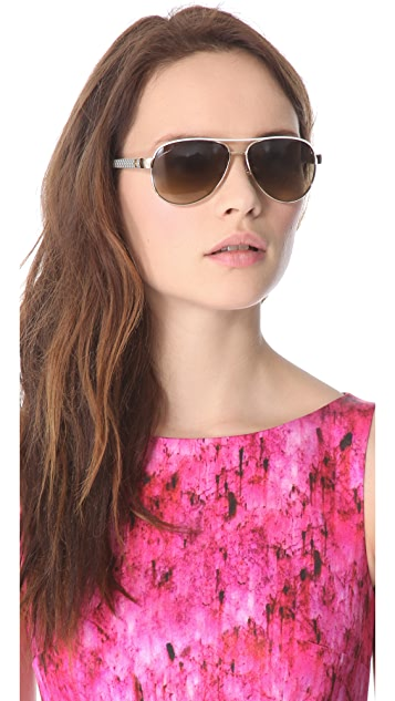 Gucci Aviator Sunglasses with Glitter Temples