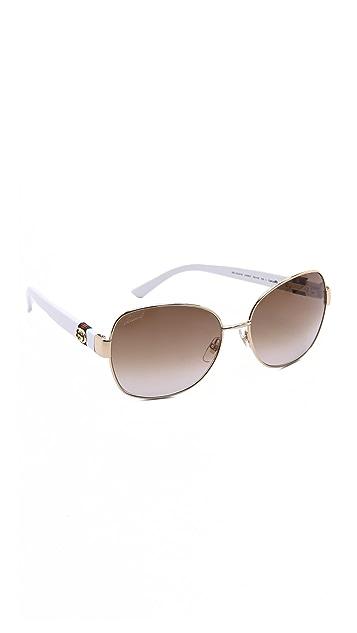 Gucci Oversized Glam Sunglasses