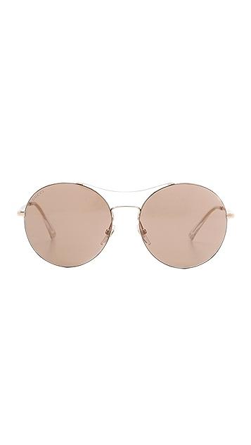 Gucci Round Aviator Sunglasses