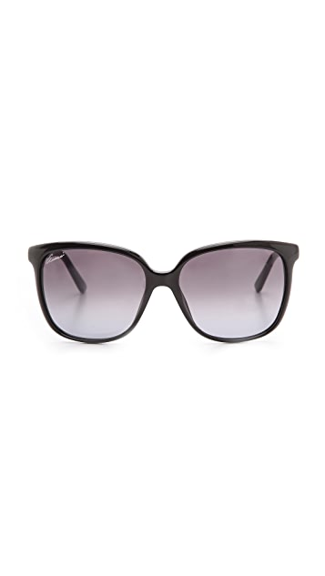 Gucci Square Gradient Sunglasses