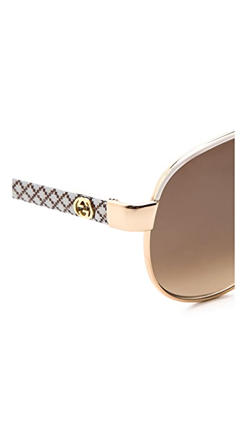 Gucci Renewal Aviator Sunglasses