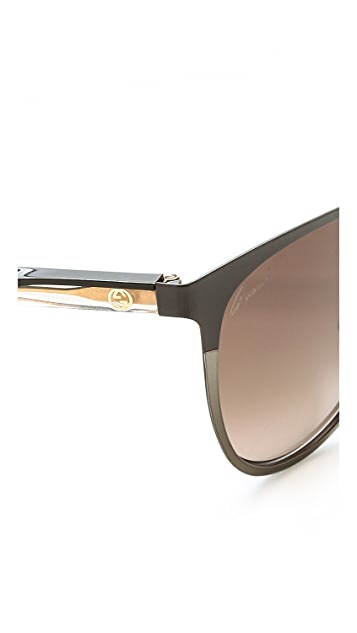Gucci Slight Cat Eye Sunglasses